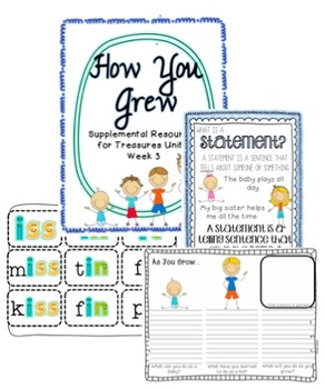 Unit 1 Bundle Pack- Supplemental Resources for Treasures First Grade