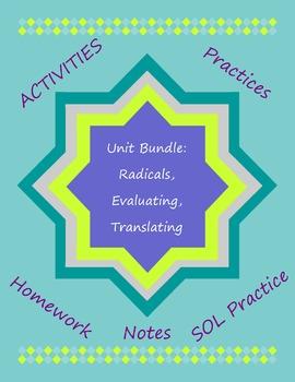 Unit 1 Bundle: Radicals, Evaluating Expressions, Translating Expressions