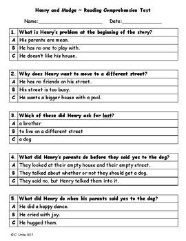 Reading comprehension practice test pdf