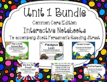 Unit 1 Bundle Common Core Interactive Notebook Journal