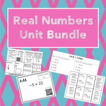 Unit 1 Bundle: Real Number Operations