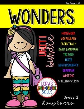Unit 1 Bundle WONDERS 2nd Grade