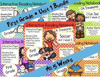 CA Treasures • Unit 1 • First Grade • Interactive Notebook • Bundle