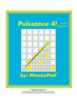 Unit 1 Ch3: Puissance 4 Game: Beginner Level French