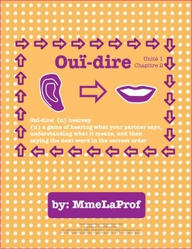 Unit 1, Chapter 2: Hearsay: Listening & Speaking Pair Activity: Beginner French