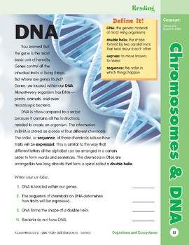 Unit 1: Chromosomes and DNA: Concepts (Skill Sharpeners: Science)