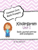 Unit 1 Common Core Math Prompts - Kindergarten