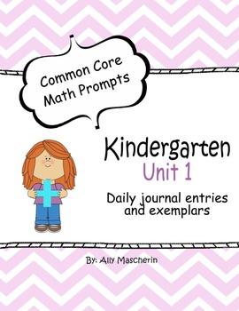 Unit 1 Common Core Math Prompts - Kindergarten