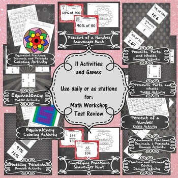 Equivalency & Percents - (6th Grade Math TEKS 6.4E-G and 6.5B-C)