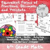 Equivalency & Percents Bundle  - (6th Grade Math TEKS 6.4E-G and 6.5B-C)