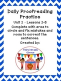 Unit 1 Daily Proofreading and Language Practice (DLP) for