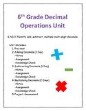 Unit 1-Decimal Operations (6th Grade)