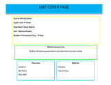 Unit 1 Design: Personal Finance (Colorado) 6th Grade