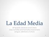 Unit 1 - Edad Media - AP Spanish Literature and Culture