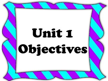 EveryDay Math 4, Unit 1 Objectives for Fourth Grade EDM Common Core Aligned