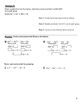 Unit #1 Factoring Rational Expressions and Solving Equations