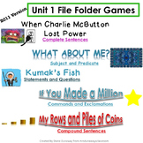 Unit 1 File Folder Games: 3rd Grade Reading Street (2011)