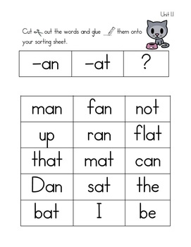 Unit 1 First Grade Spelling Activities {Aligns with McGraw-Hill Treasures}