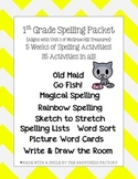 Unit 1 First Grade Spelling Activities {Aligns with McGraw