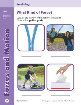 Unit 1: Forces and Motion  (Skill Sharpeners: Science)