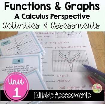 PreCalculus: Functions and Graphs Review & Assessment Bundle