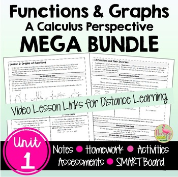 Functions and Graphs MEGA Bundle (PreCalculus - Unit 1)