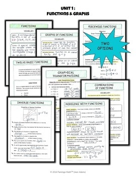 PreCalculus: Functions and Graphs FOLDABLES Bundle