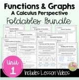 Functions and Graphs FOLDABLES™ with Video Lessons (PreCal