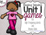Unit 1 Games for Reading Wonders Grade 1