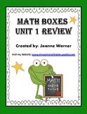 Unit 1 Geometry Math Boxes Review 4th Grade
