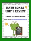 Unit 1 Geometry Math Boxes Review 4th Grade