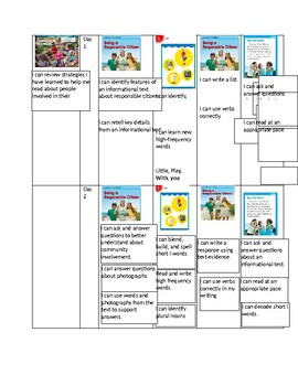 Unit 1 Grade 1 Benchmark I can Statements