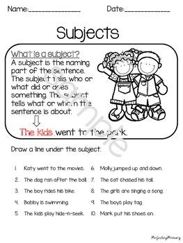 Verbs, Proper Nouns, Nouns, & Statements & Questions Bundled