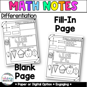 Unit 1-Guided Math Notes for Math Notebook- 4th Grade