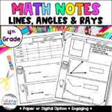 4th Grade- Unit 1-Guided Math Notes for Math Notebook-