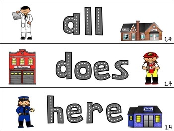 Unit 1 High Frequency Word Cards