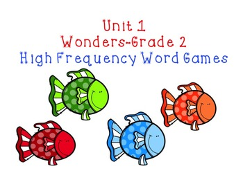 Unit 1 High Frequency Word Games
