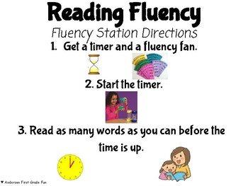 Unit 1 High Frequency Words Fluency Fans- Wonders