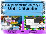 Unit 1 Houghton Mifflin Journeys BUNDLE (Homework & Test Practice Task Cards)