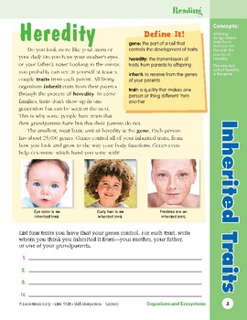 Unit 1: Inherited Traits: Concepts (Skill Sharpeners: Science)