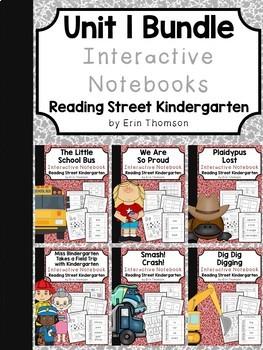 Unit 1 Interactive Notebooks ~ Reading Street Kindergarten