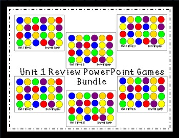 Unit 1 Interactive Review Games for Smart Notebook. Readin