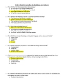 Unit 1 Intro to Sociology and Culture Test with Answer Key