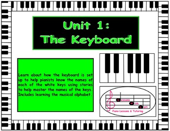 Unit 1 Introduction to the Keyboard