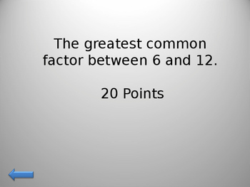 Greatest Common Factor, Least Common Multiple, Division with Decimals