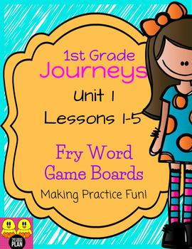 Unit 1 Journeys Fry Word Games