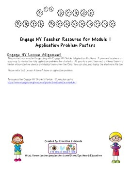 Engage NY Module 1 Application Problem Posters