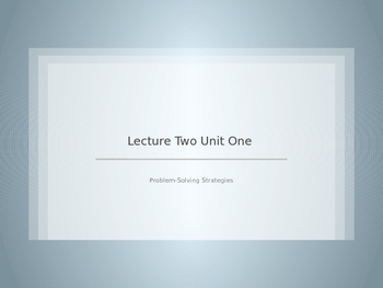 Unit 1 Lesson 2 Physics
