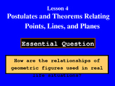 Unit 1 Lesson 4: Posts. & Theorems Relating Points, Lines,