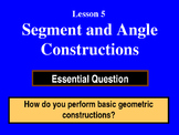 Unit 1, Lesson 5: Segment and Angle Constructions